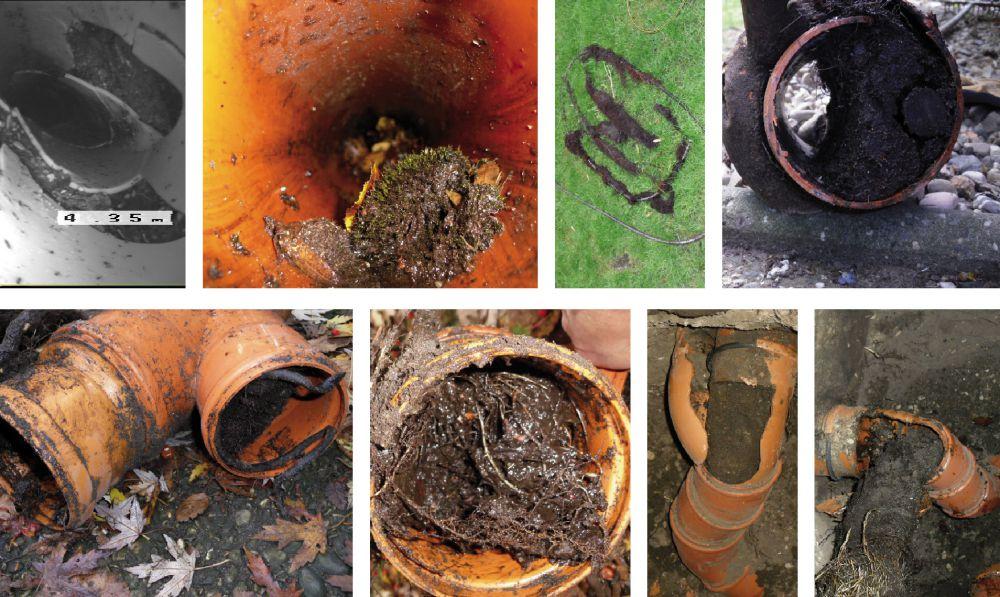 Defekte Regenrohrleitungen